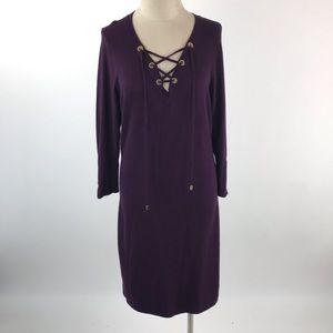 Calvin Klein Womens Long Sleeve Sweater Dress